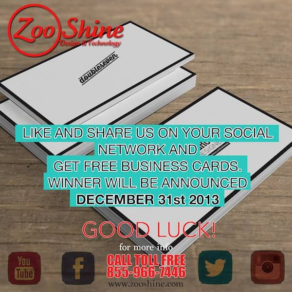 Contest ending 12 31 13 win 1000 free business cards zooshine win 1000 free business cards colourmoves