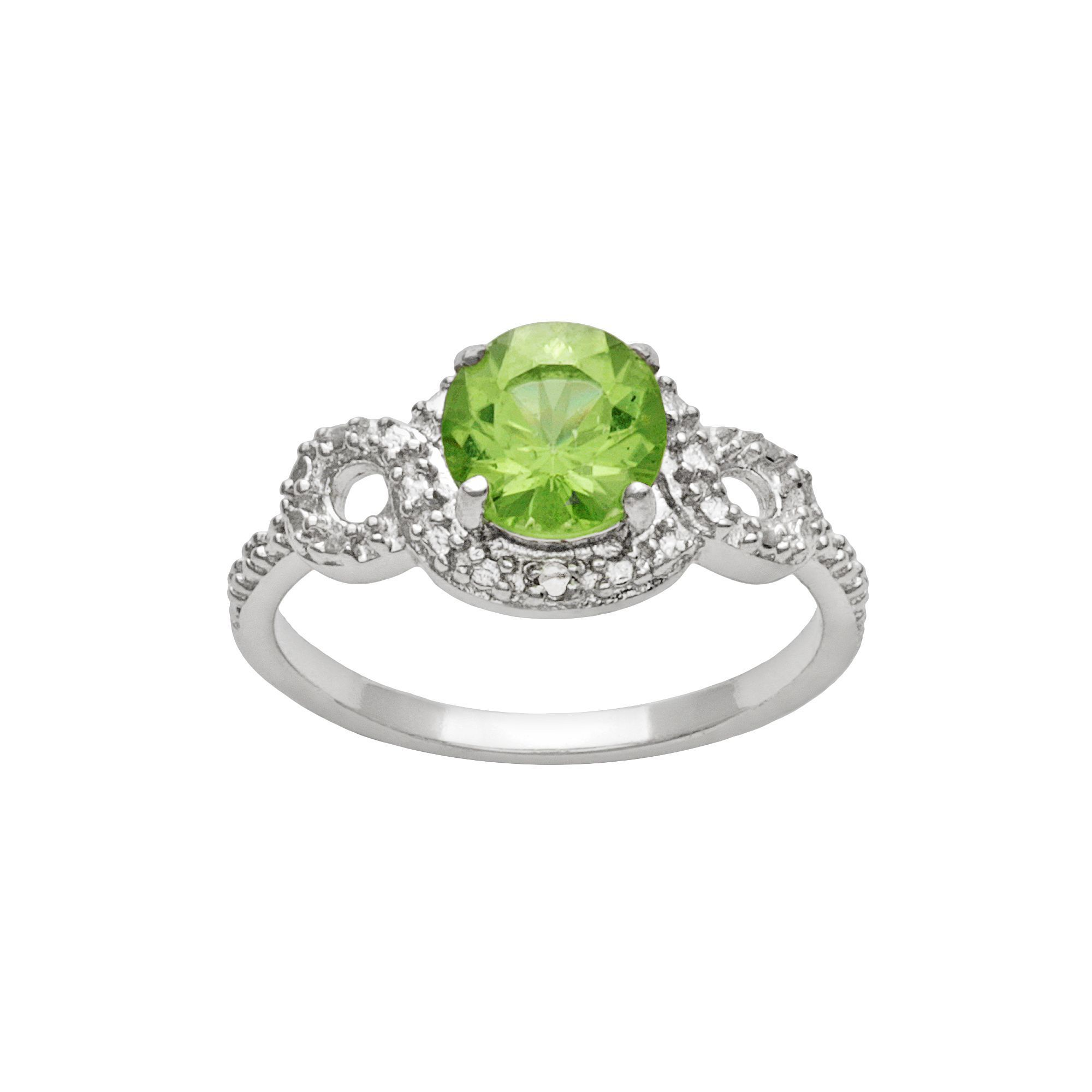peridot vintage estate pin ring gold rings wedding jewelry danhov cocktail white diamond karat