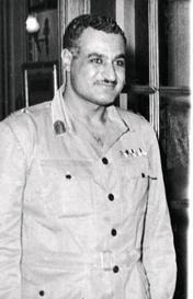 Gamal Abdel Nasser. Foto fra 1957.