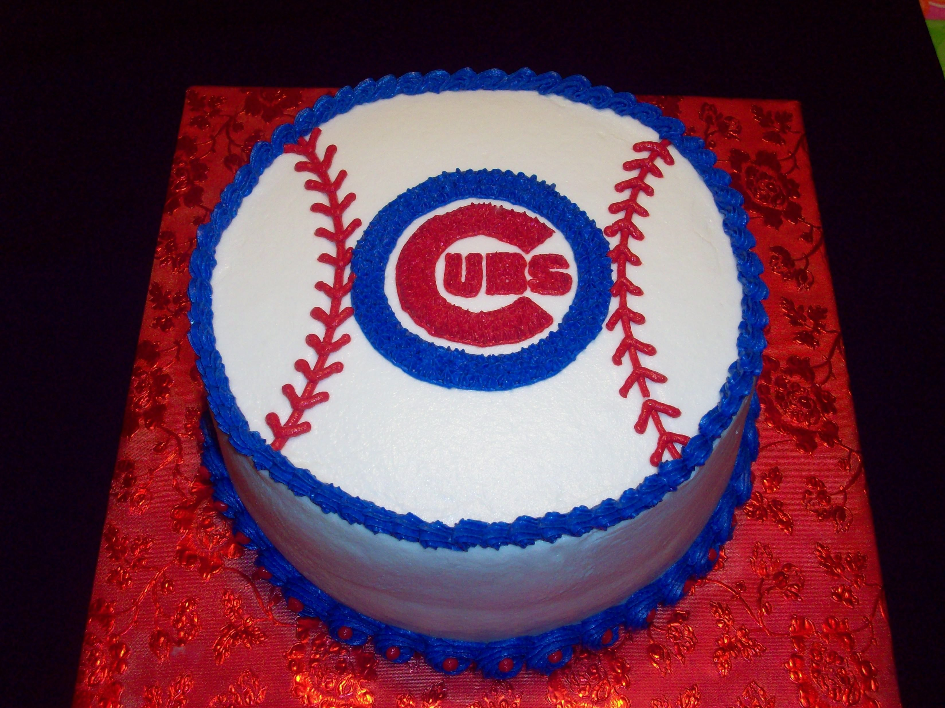 Fine Chicago Cubs Birthday Cake Birthday Cakes Pinterest Chicago Birthday Cards Printable Giouspongecafe Filternl