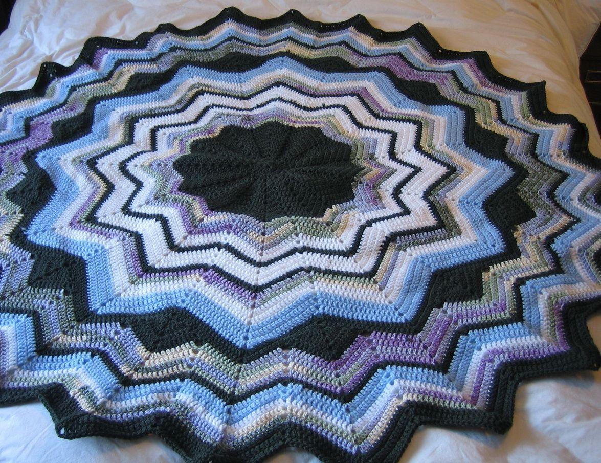 Janels free round ripple crochet afghan pattern crochet janels free round ripple crochet afghan pattern bankloansurffo Images