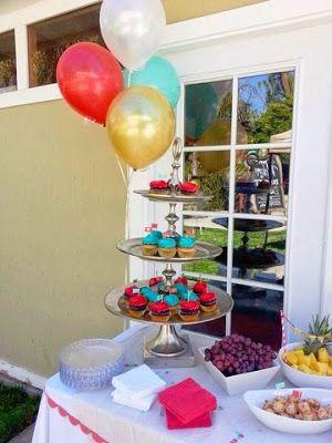 Americana Diy Baby Shower Dessert Table Nicole Novembrino Burnett