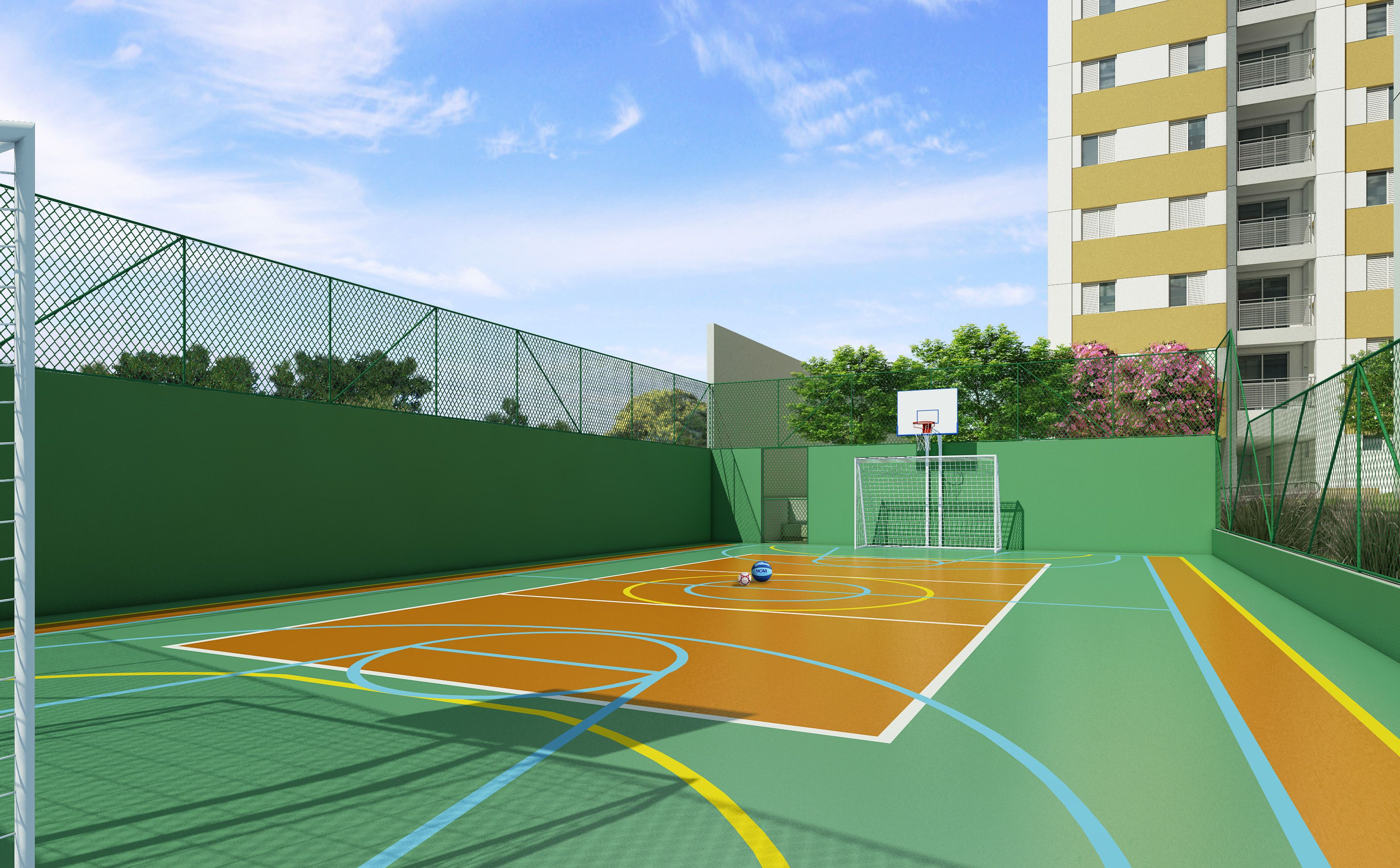 Residencial Due Bosque Maia Quadra De Basquete Quadra Futsal