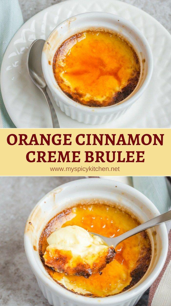 Orange Cinnamon Creme Brulee #cremebrulée