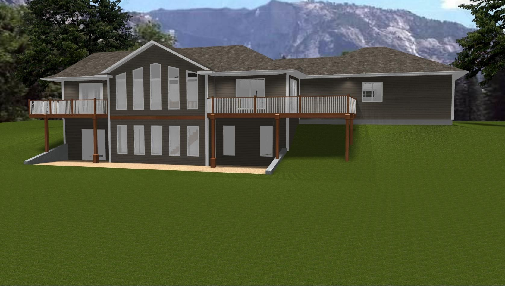 Fantastic Houses with Walk Out Basements | Walkout Basements. house plans  NW06