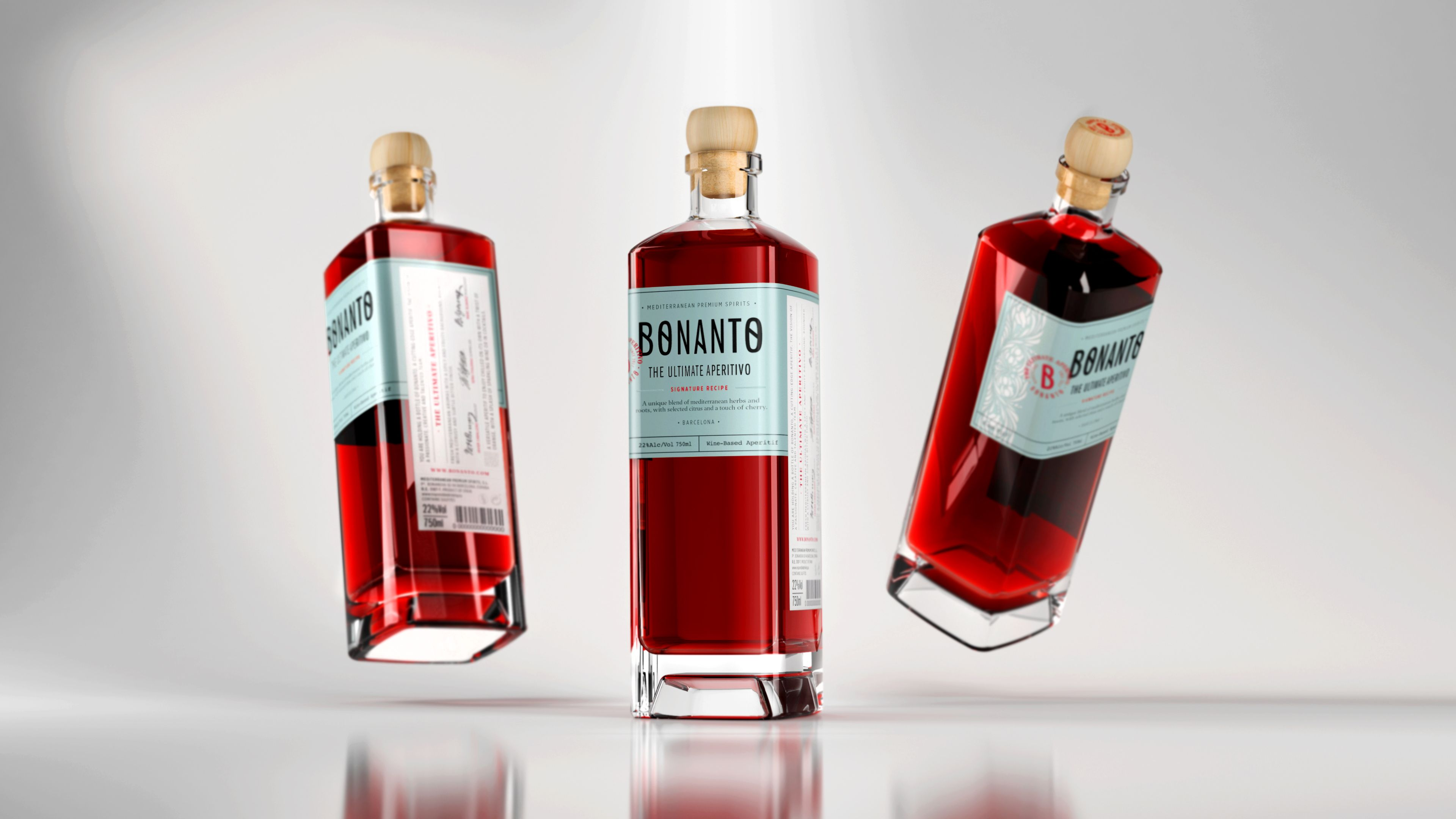 Bonanto Elegance And Authenticity Innovative With Personality Delicate Flavour Customized Glass Doblealto Bottle And A Wine Bottle Bottle Rose Wine Bottle
