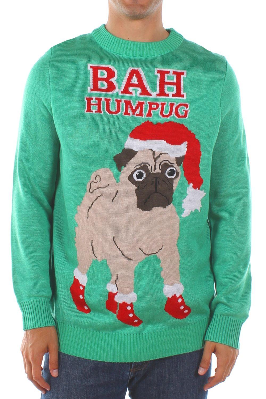 Men\'s Bah Humpug Ugly Christmas Sweater | Candy | Pinterest | Santa ...