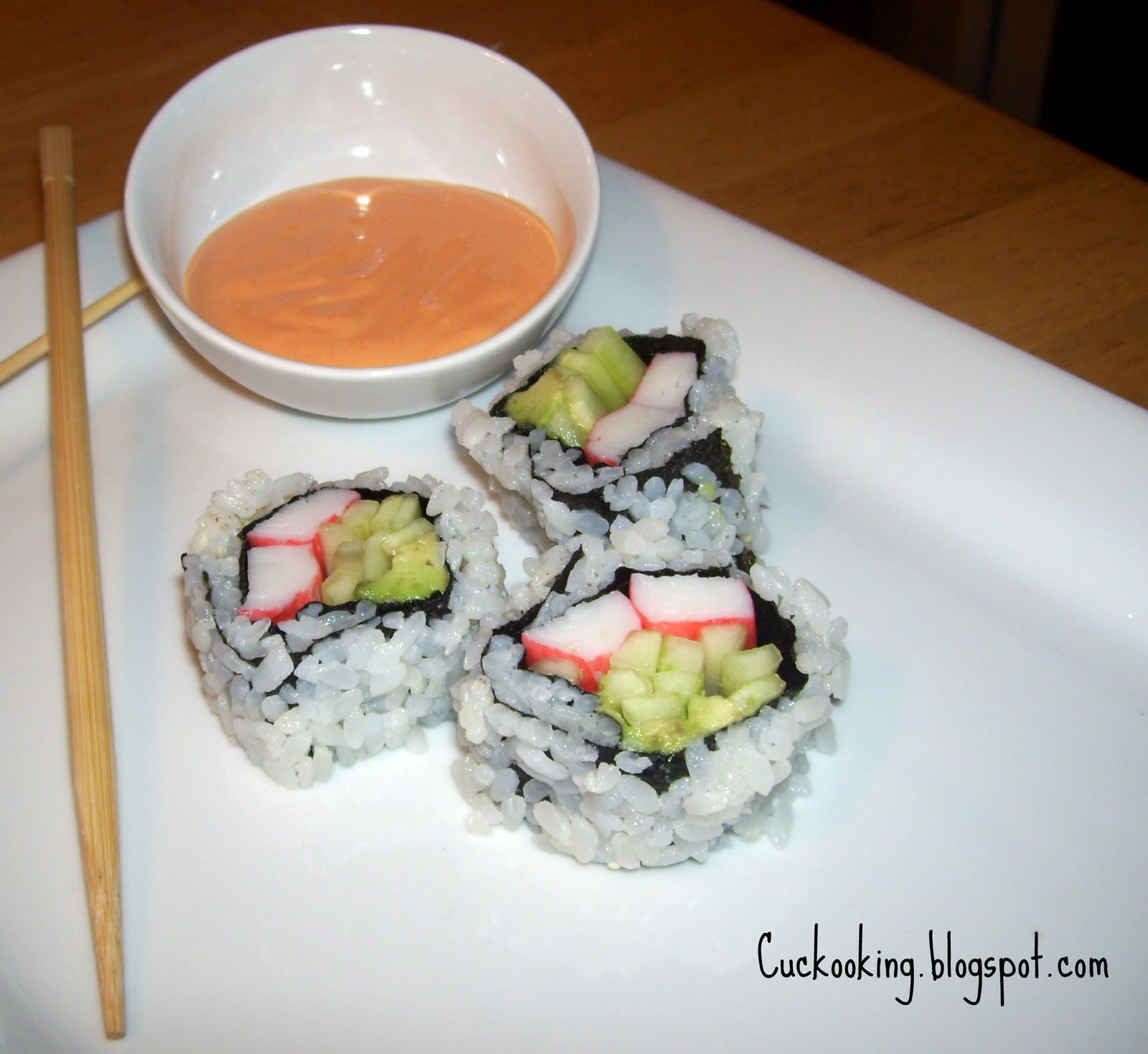 Cooking Creation: Inside-Out Philadelphia Sushi Roll with Spicy Sauce