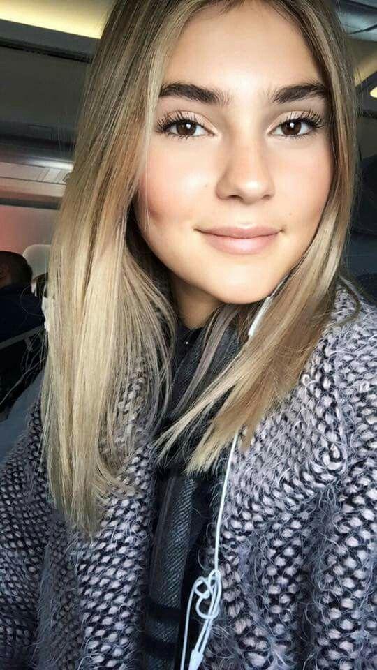 Stefanie Giesinger German Topmodel Bronde Hair Braune Haare