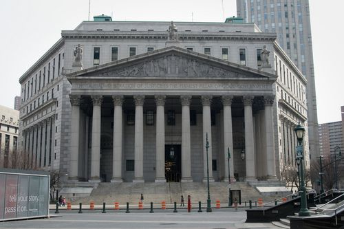 New York Supreme Court Entrance in Manhattan