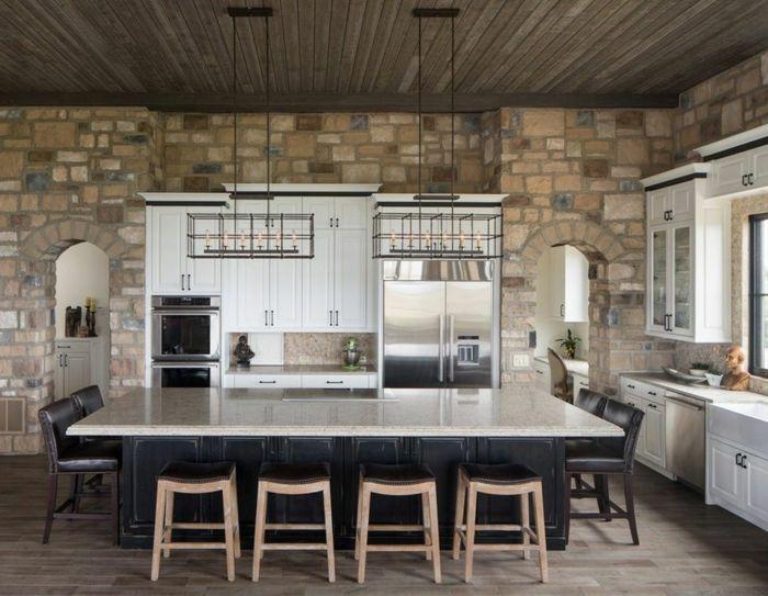 ▷ 1001 + Ideas de decoración con pared de piedra o ladrillo ...