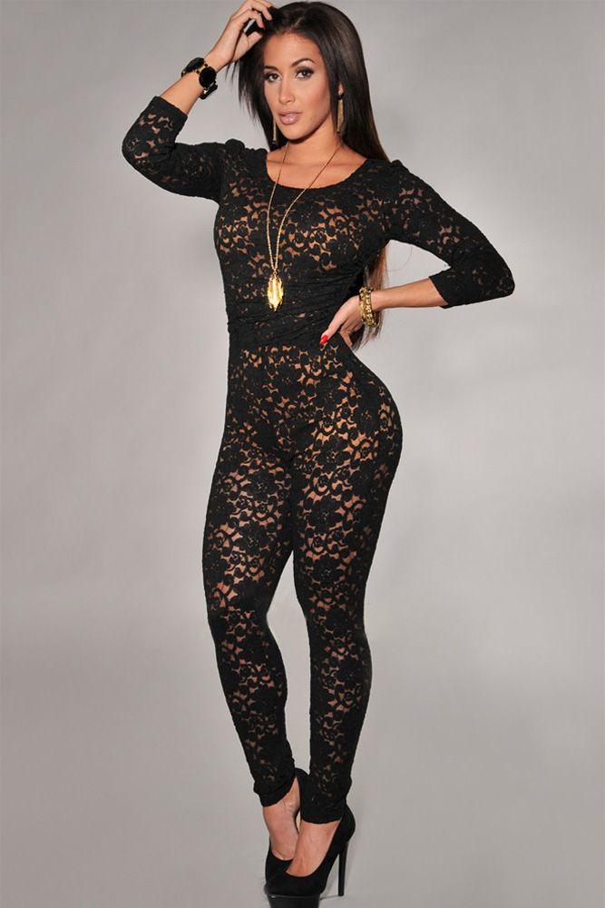 Black longe sleeve short set | Corsets & Hosiery | Pinterest ...