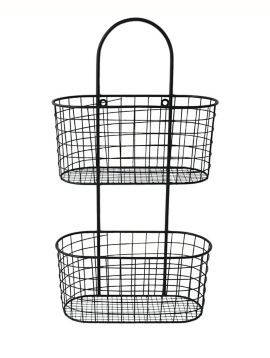 Black Wire Wall Hanging Organizer Wire Wall Basket Baskets On
