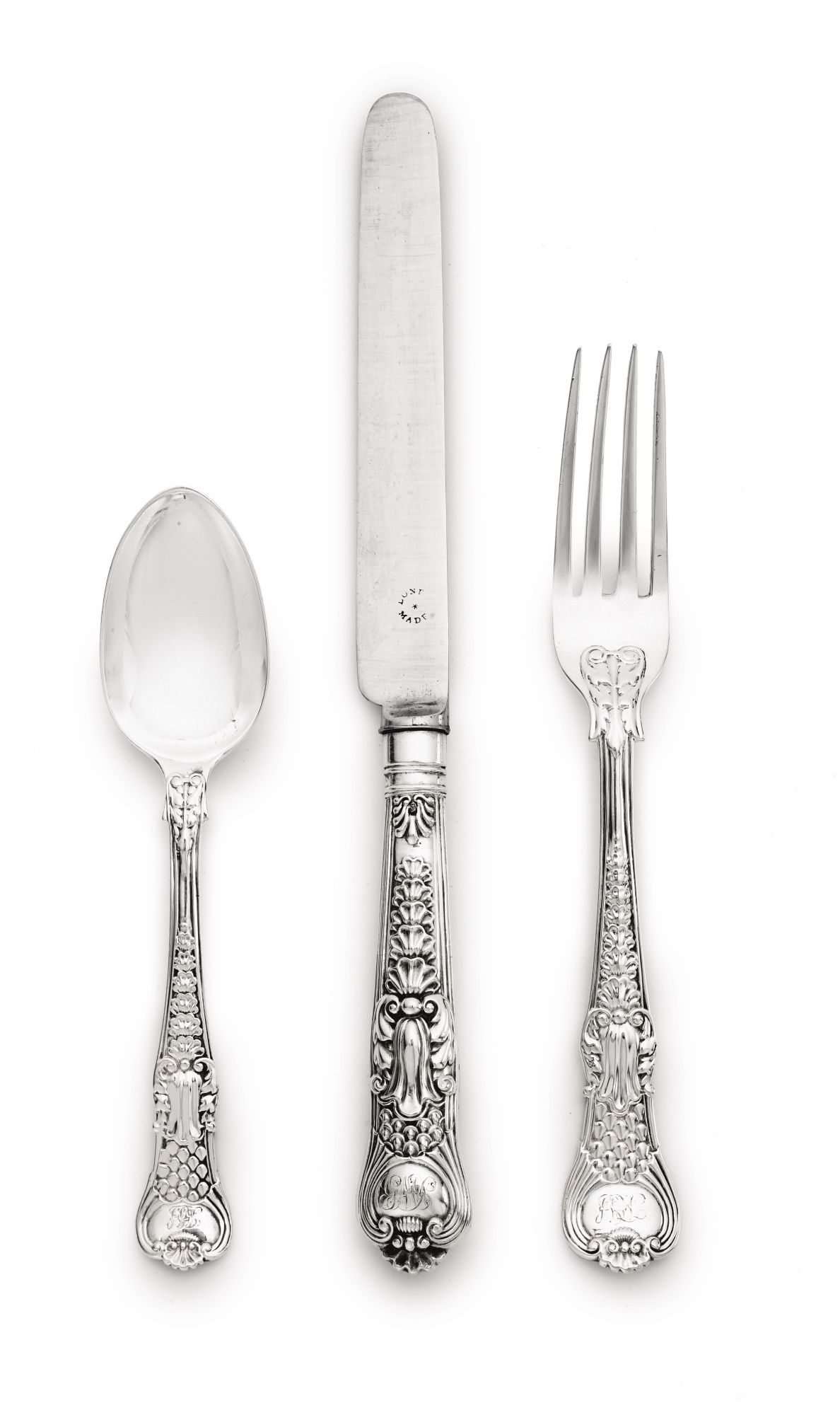 An Assembled Victorian Silver Coburg Pattern Flatware Service Most By George Adams London 1845 1899 Classic Cutlery Sterling Flatware Antique Silver