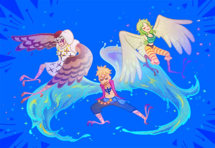 one piece marco the phoenix pell monet 白ひげ海賊団 イラスト onepiece イラスト