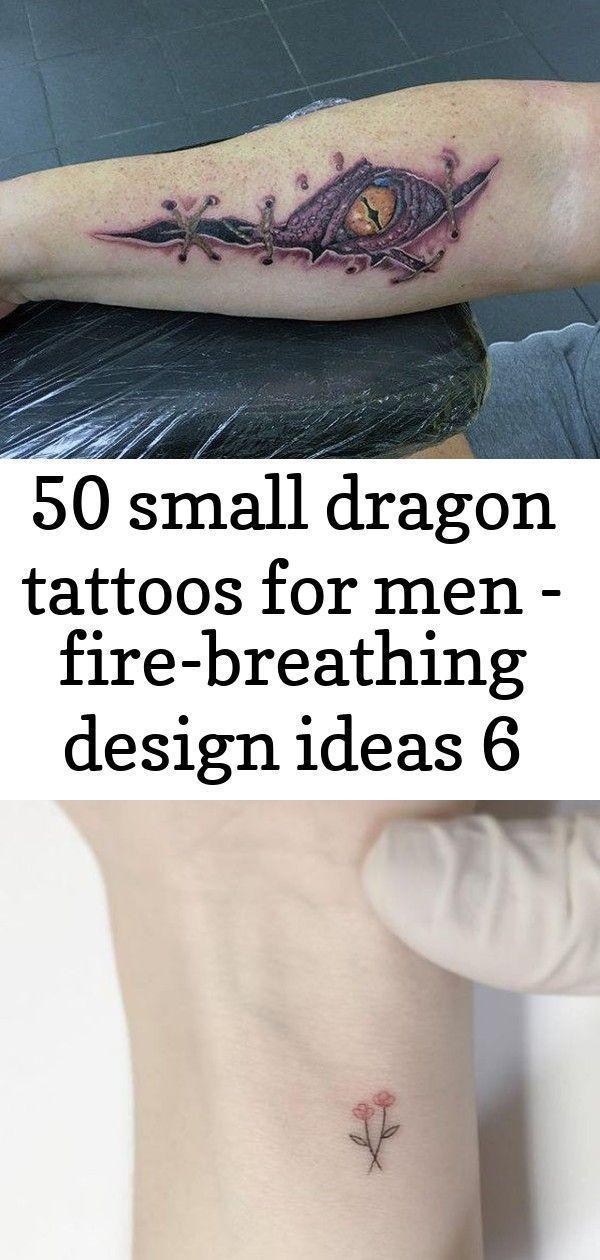 Photo of 50 kleine Drachentattoos für Männer – feuerspeiende Designideen 6 – 50 kleine …