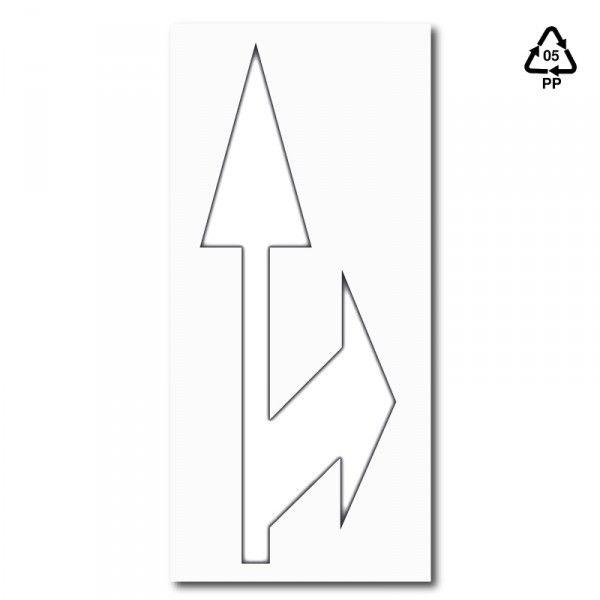 Plantilla pintar flecha de dirección o de selección de carril de ...