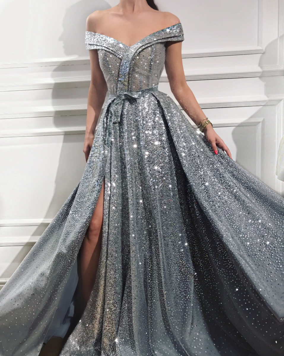 Silvery amelia tmd gown fashion hair make up pinterest