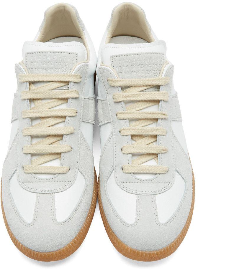acaa03ecd0f Maison Margiela - White Replica Sneakers | Next Level in 2019 ...