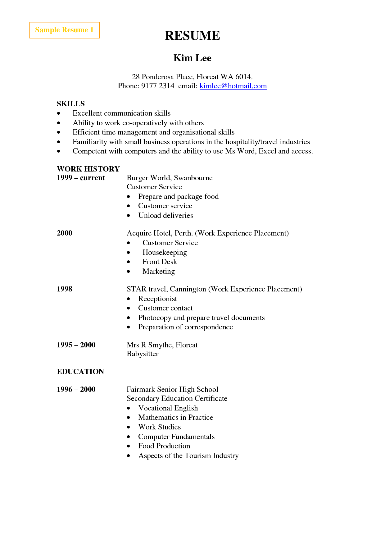 Sample Resume For Cleaner Hotel Cleaning Example Service
