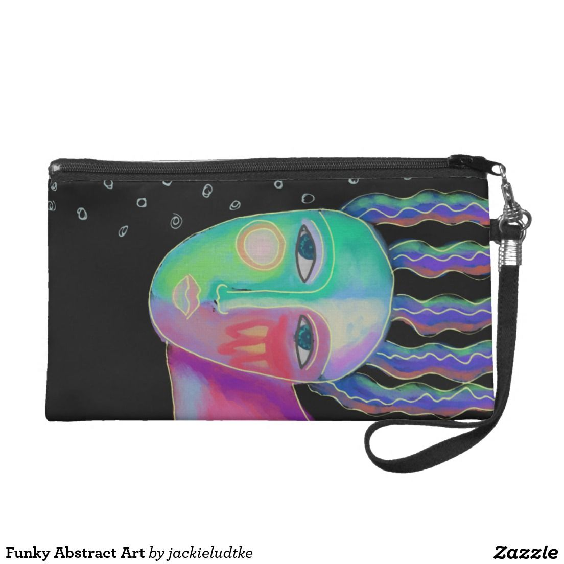 Leather Statement Clutch - Circles Abstract Art by VIDA VIDA Lwkwqs7h