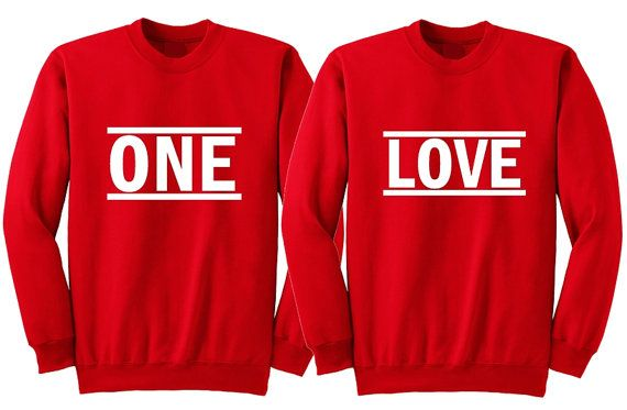 One Love Matching Couple Sweatshirts His And Hers Shirts