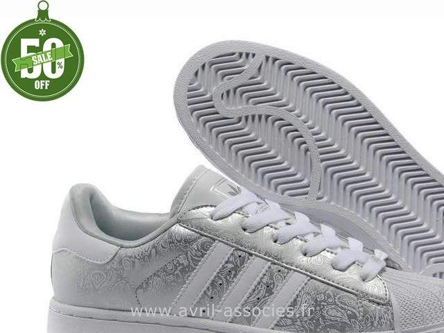 923a4cf74d78c Officiel Adidas Chaussures Superstar II Gribouillage Argent Femmes (Chaussure  Adidas Femme Montant Pas Cher)