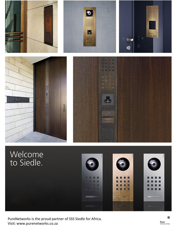 Telecommunication Room Design: SSS Siedle Finished In Burnished Brass
