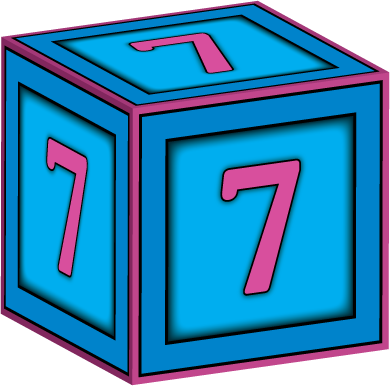 3d Baby Block Letter 7 Baby Blocks Block Lettering Lettering