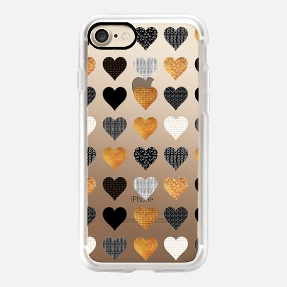 iPhone 11 Pro Case Small pattern texture gold hearts by