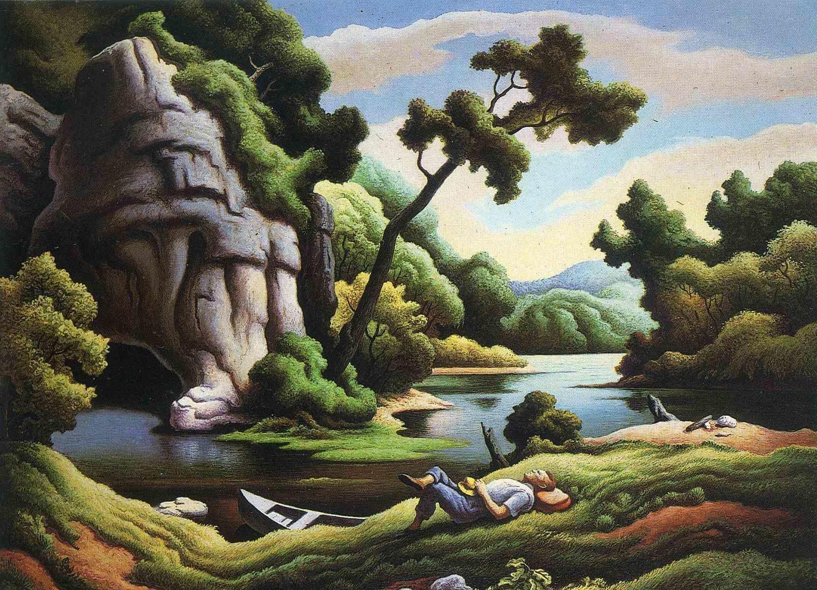 Thomas Hart Benton Cave Spring Art In 2019 Thomas