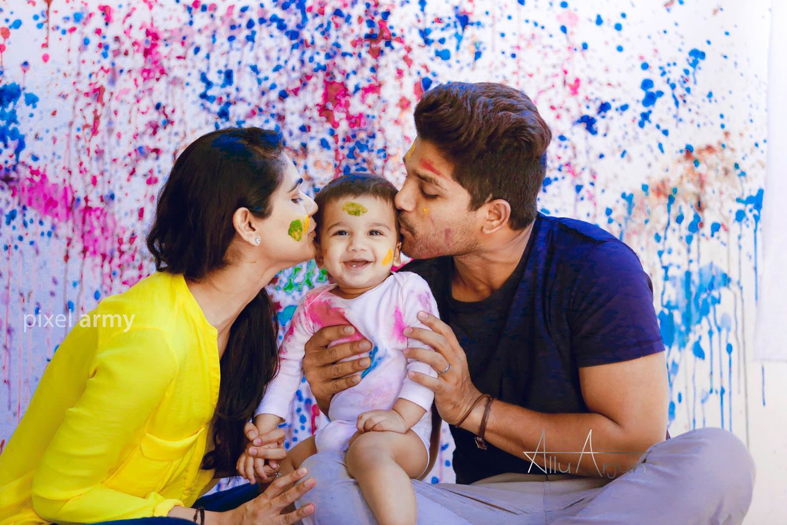 Allu arjun and sneha reddys son allu ayaan hd images movienewz in