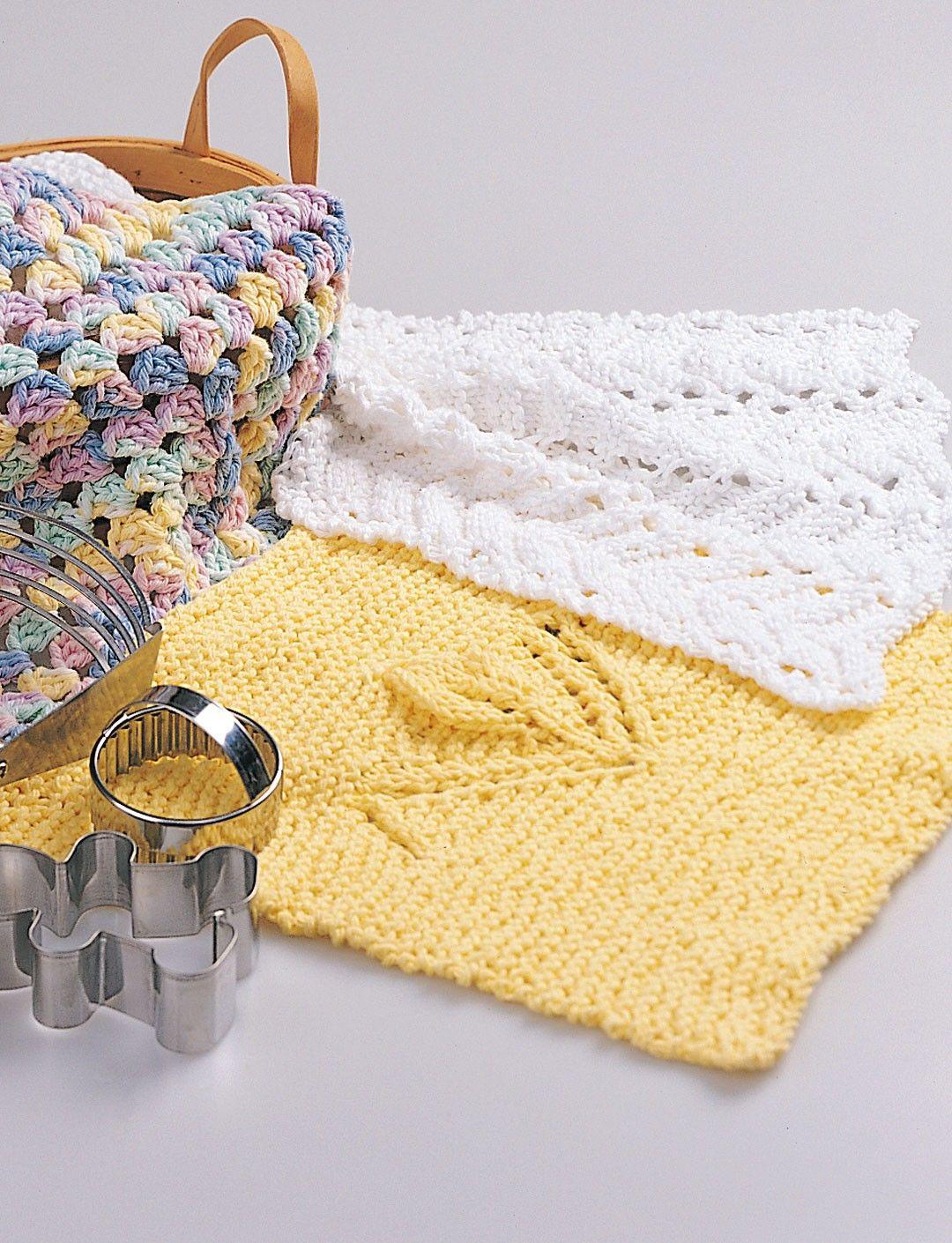Yarnspirations.com - Bernat Tulip Bud Dishcloth - Patterns ...