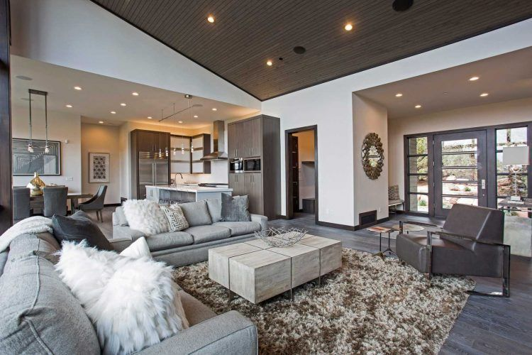 casual contemporary living room #contemporarylivingroomsets