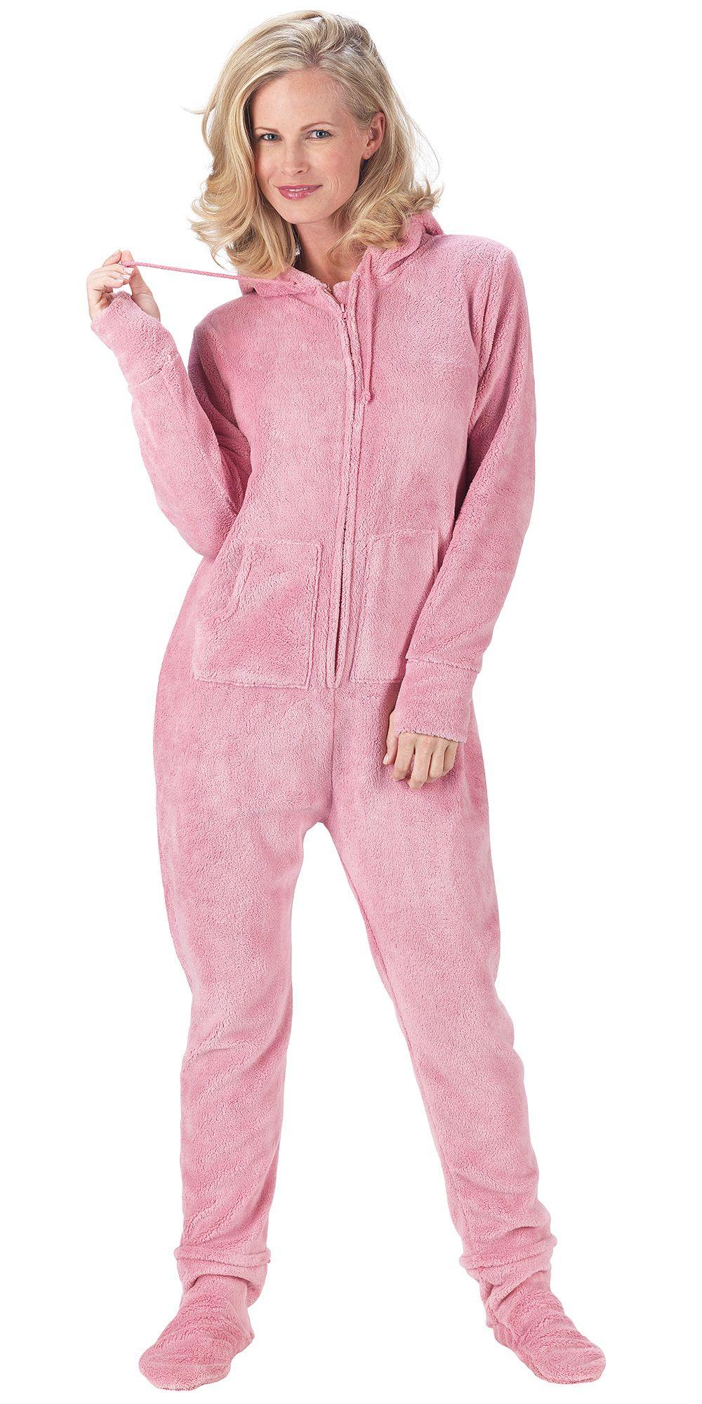 1ac2b71661 Pink Hoodie-Footie for Women - Onesie Pajamas from PajamaGram.  79.99   HoodieFootie  Pajamas