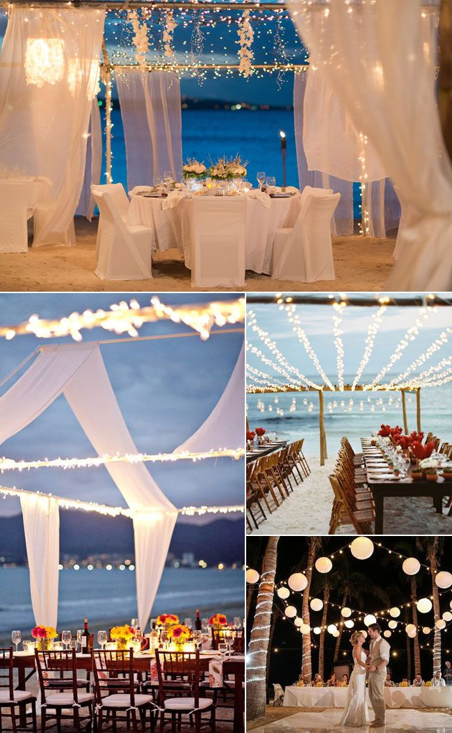 Boho Summer Beach Wedding Reception Decoration Ideas
