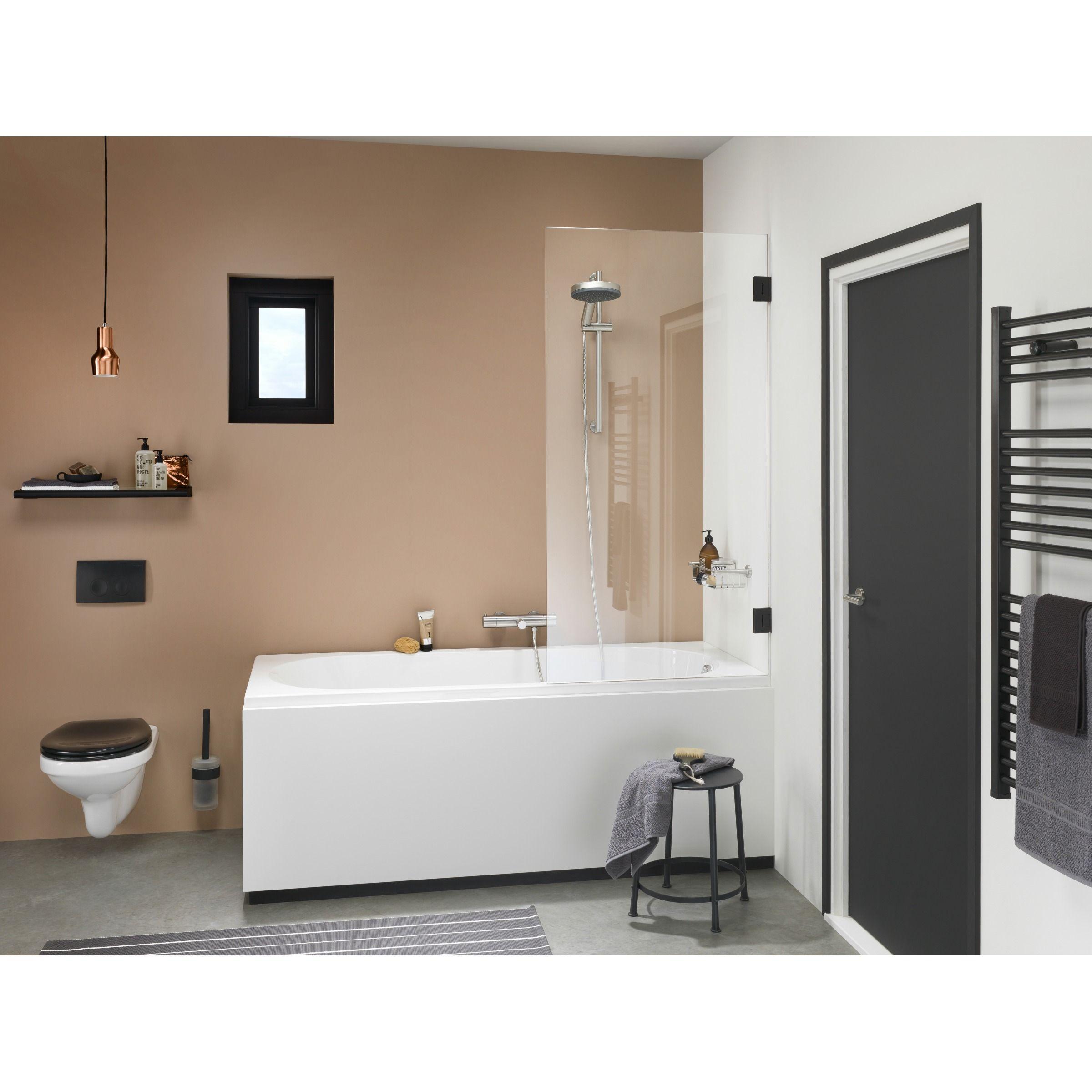 Get Wet Badwand I Am 75x160 Cm Zwart Douchekoppen Zwart En Bad