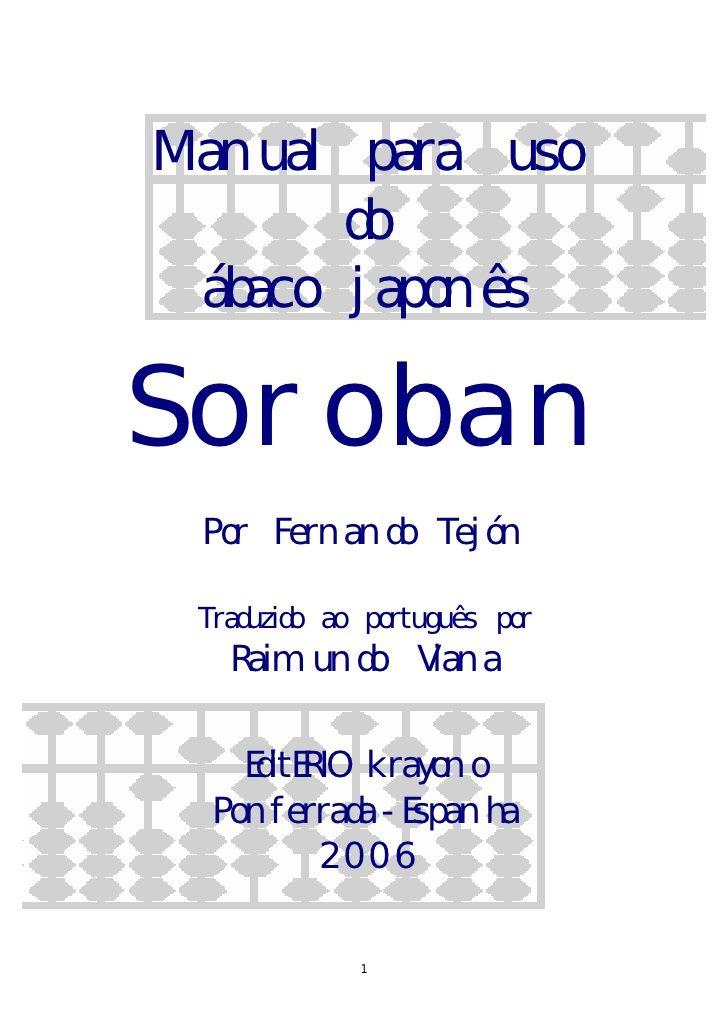 Manual abaco japones soroban portugues