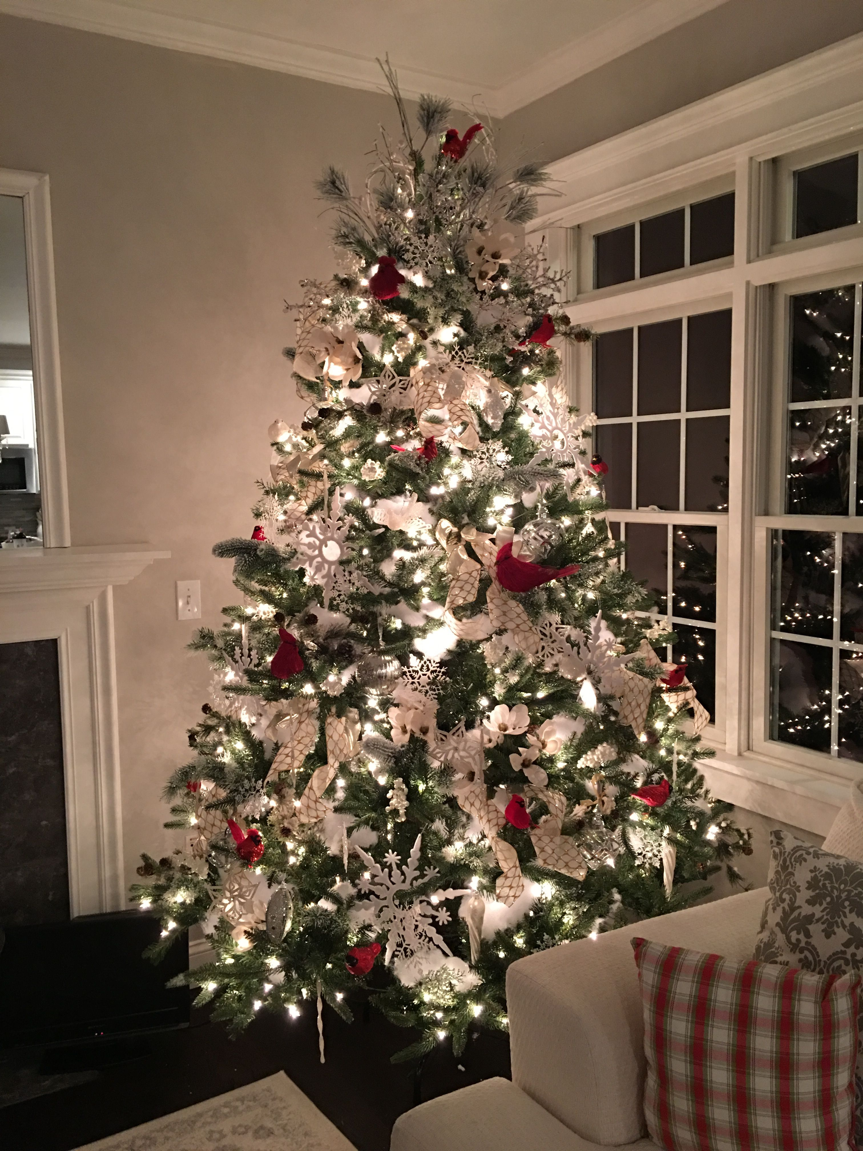 """Cardinal Themed tree DIY YouTube Channel """"the Pixie Dust"""