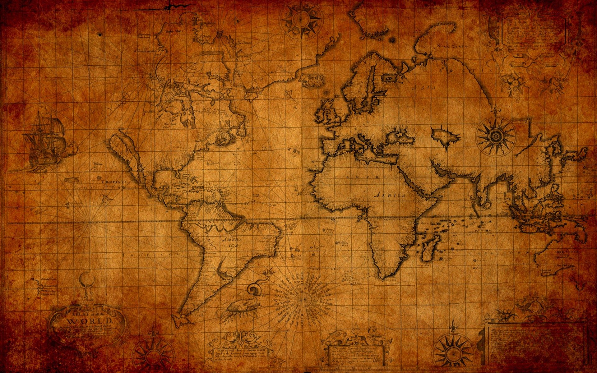 Map Wallpaper Old World Map Desktop Wallpaper For Office