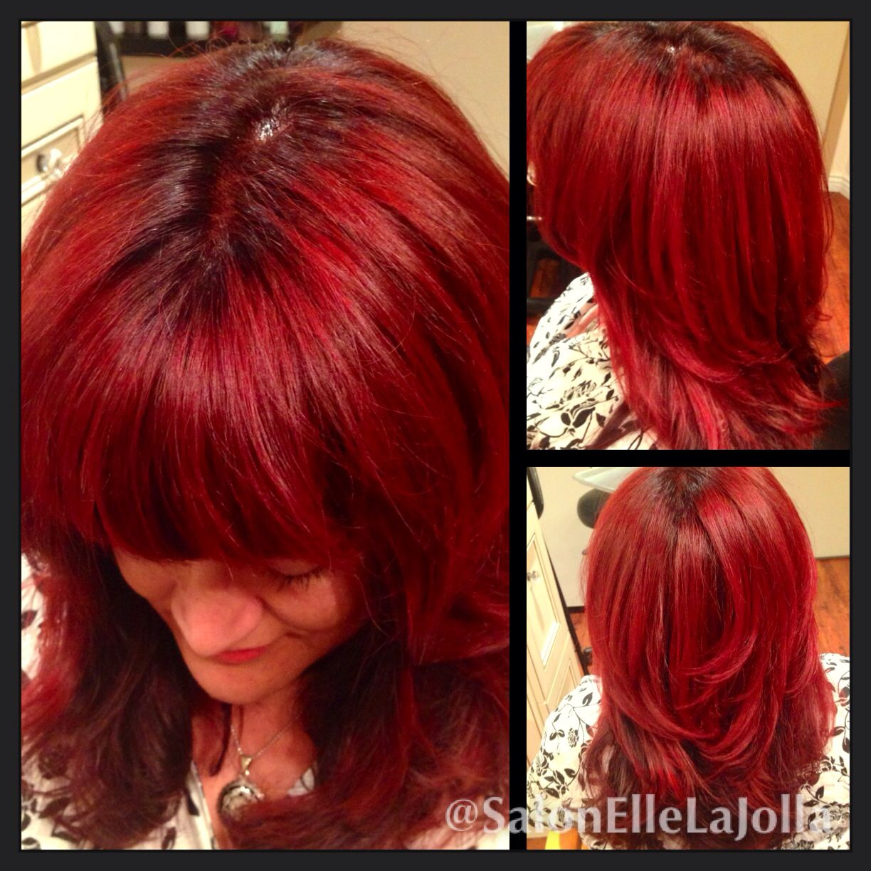 Red Hair Red Hair Color Wavy Red Hair Bangs Womens Haircut