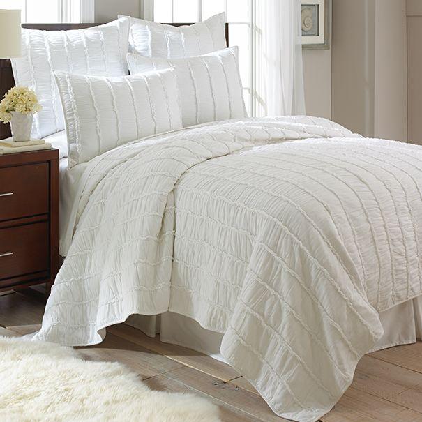 White Ruffle Bedding Set White Ruffle Bedding Ruffle Bedding