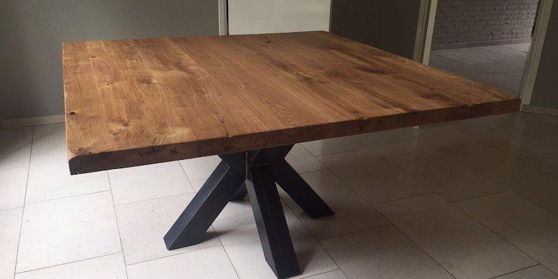 Vierkante Eikenhouten Eettafel.Vierkante Xx Tafel In 2019 Eettafel Vierkante Tafels En
