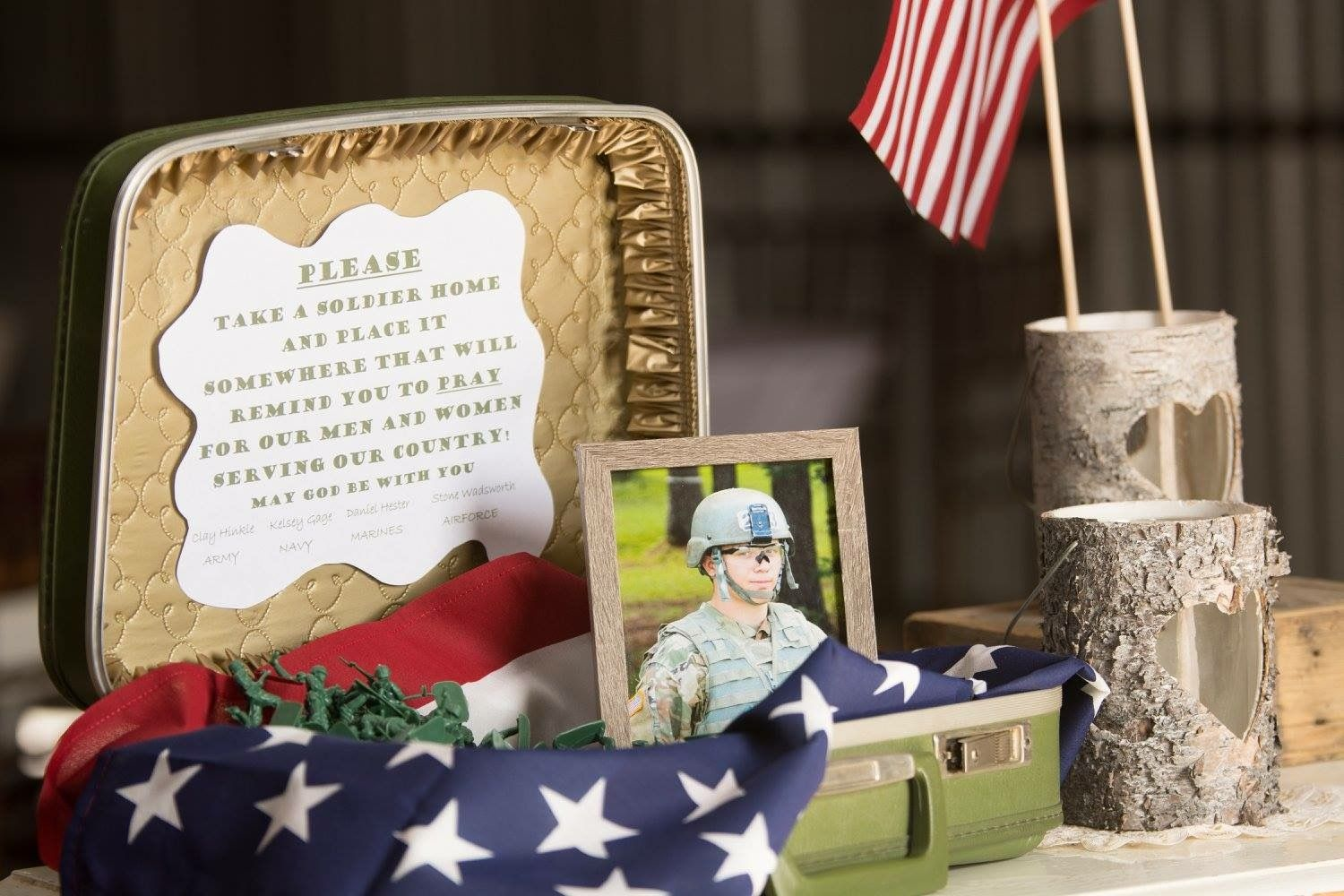 """Army Men Wedding Favors! """"Please Take A Soldier Home And"""