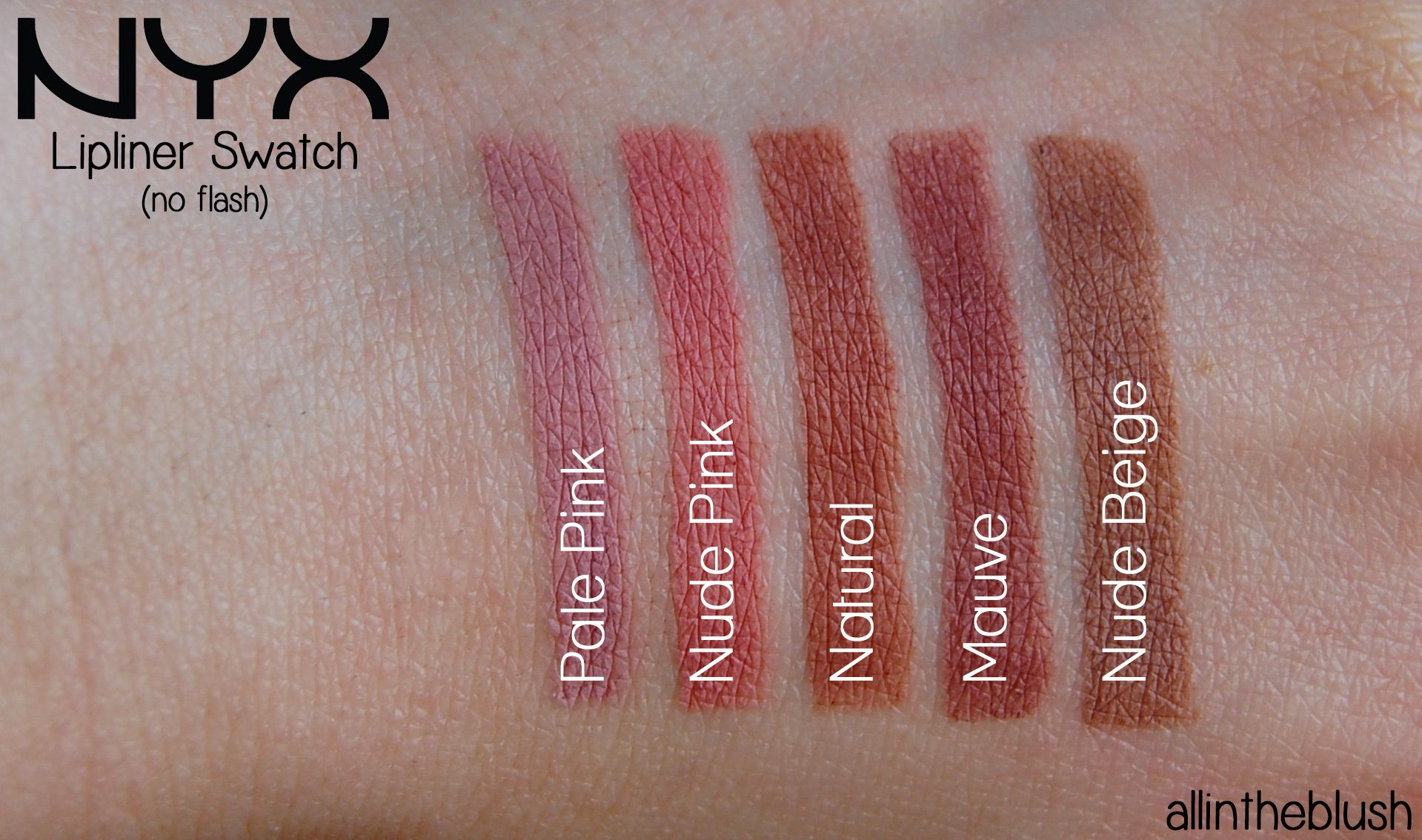 Nyx Slim Lip Pencils Review Swatches Beauty By All In The