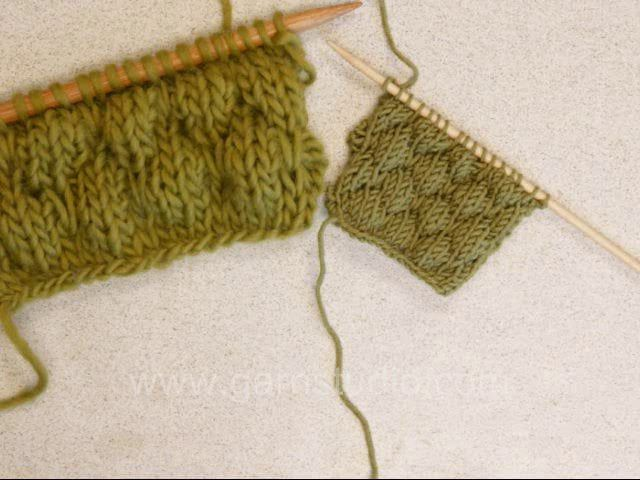 DROPS Knitting Tutorial: How to make a sailor bobble pattern ...