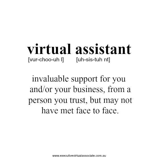 The definition of a Virtual Assistant How can a Virtual Assistant - office assistant job description