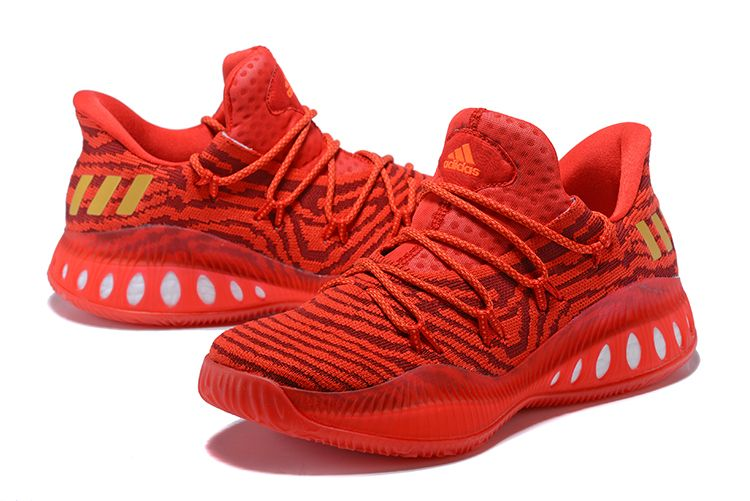 """the latest 15062 5f8f8 Mens adidas Crazy Explosive Low """"All-Star"""" PE Red Gold For Sale"""