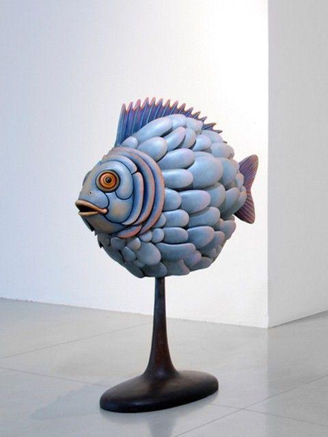Sergio Bustamante, sculptor and craftsman.