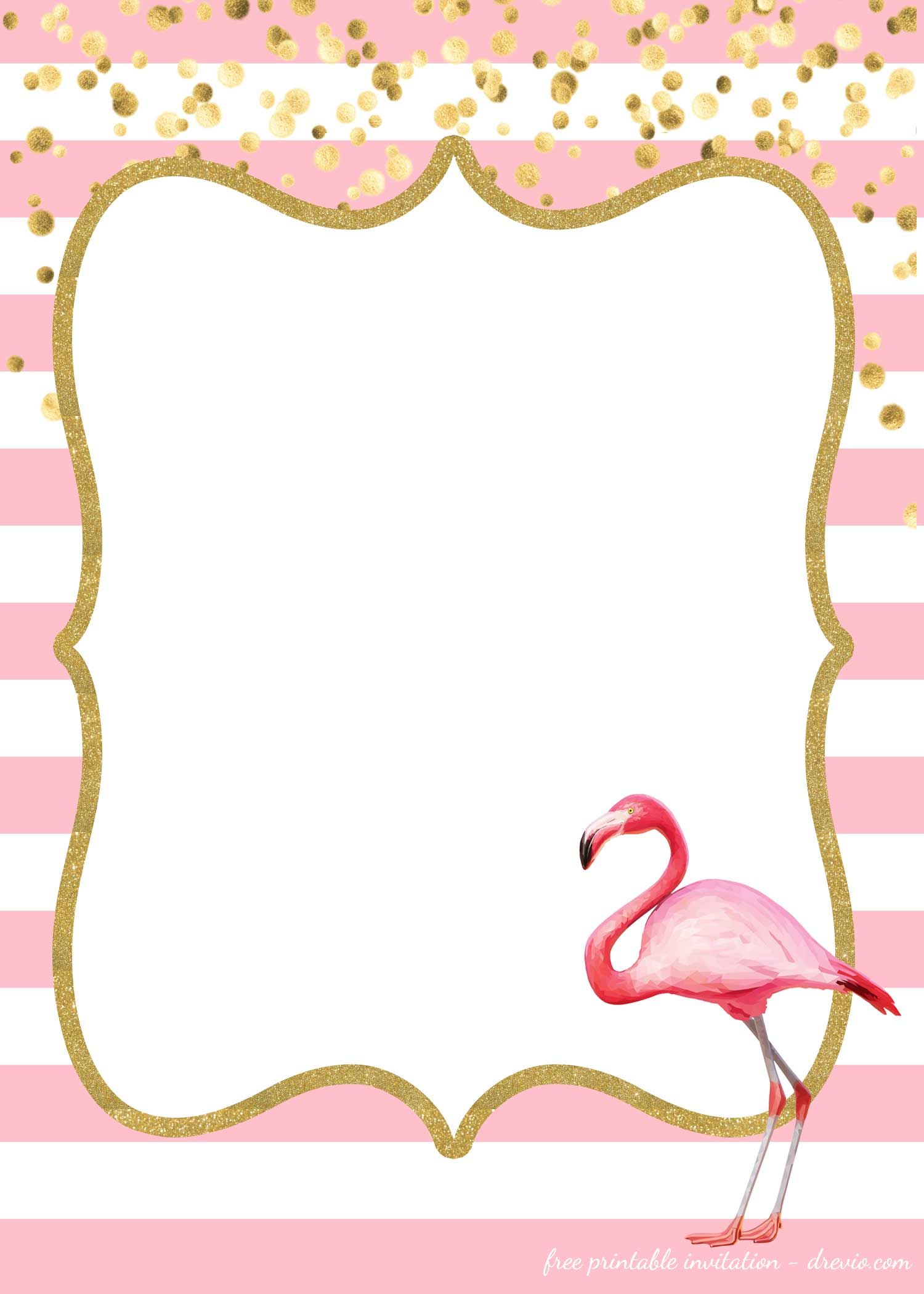 free flamingo invitations templates downloadable free printable